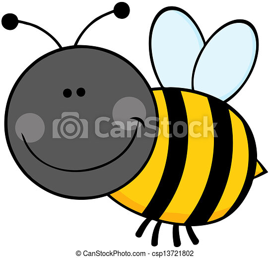 bumble, flyve, karakter, cartoon, bi - csp13721802