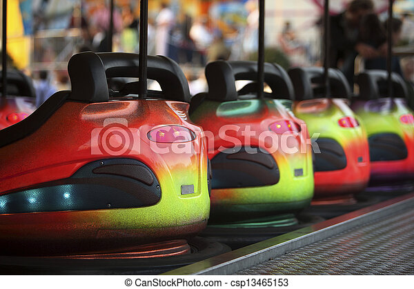 Bumper Cars in a row - csp13465153