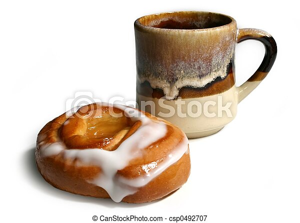bun and coffee - csp0492707