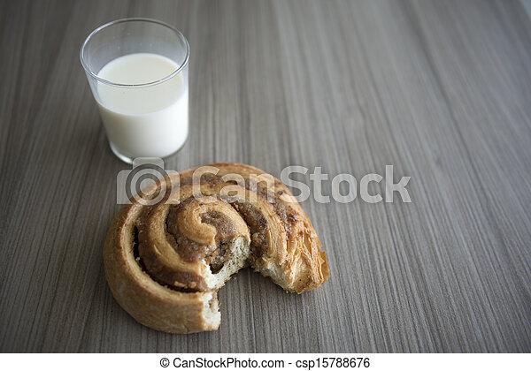 Bun and milk - csp15788676