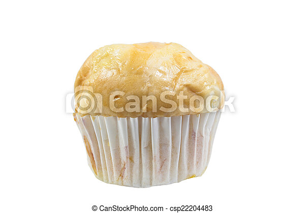 bun bread fill with pandan custard - csp22204483
