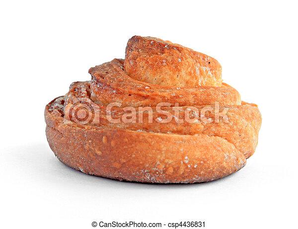 bun on white background - csp4436831