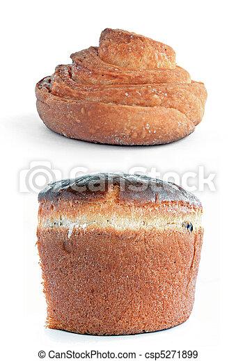 bun on white background - csp5271899