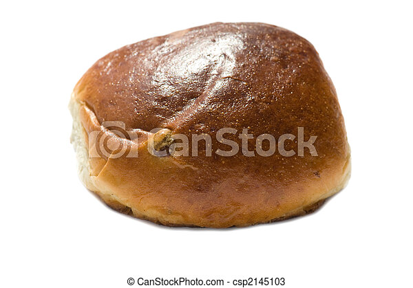 bun with sultana on white - csp2145103