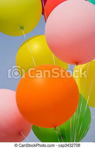 bunch of balloons - csp3432708