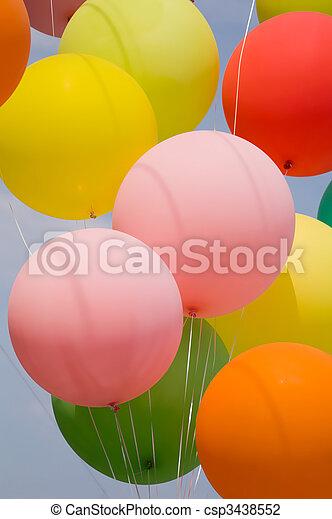 bunch of balloons - csp3438552