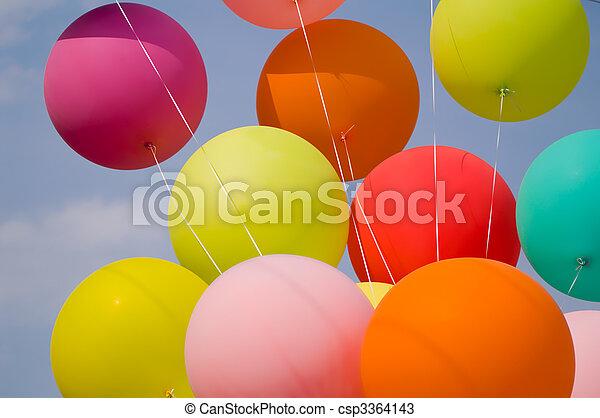 bunch of balloons - csp3364143