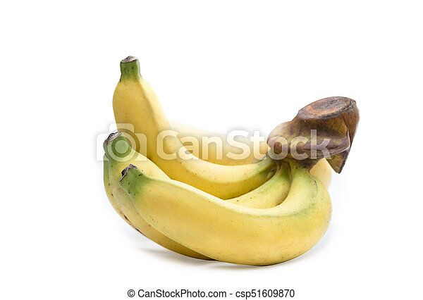 Bunch of bananas isolated on white background - csp51609870