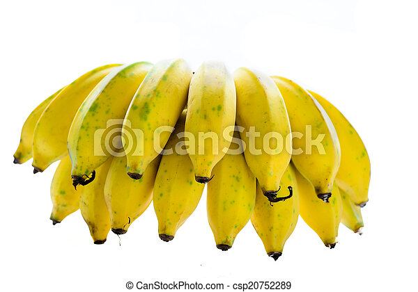 Bunch of bananas isolated on white background - csp20752289