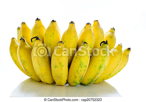 Bunch of bananas isolated on white background - csp20752323