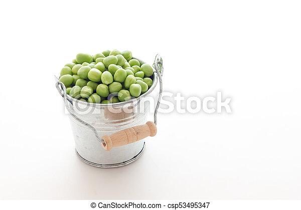 Bunch of biologic delicious green peas - csp53495347