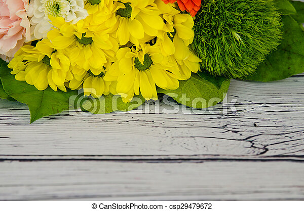 bunch of colorful flowers - csp29479672