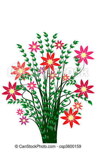 Bunch Of Flowers Stock Illustration