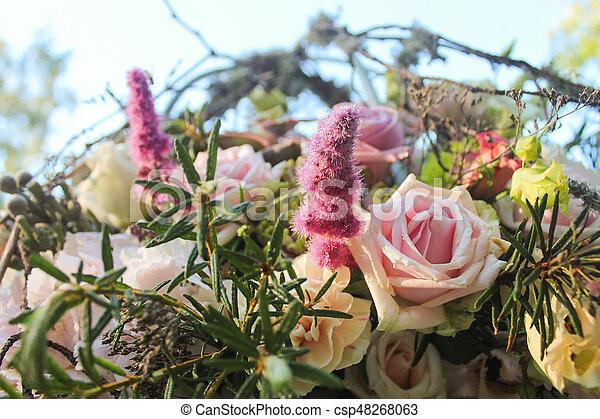 bunch of flowers - csp48268063