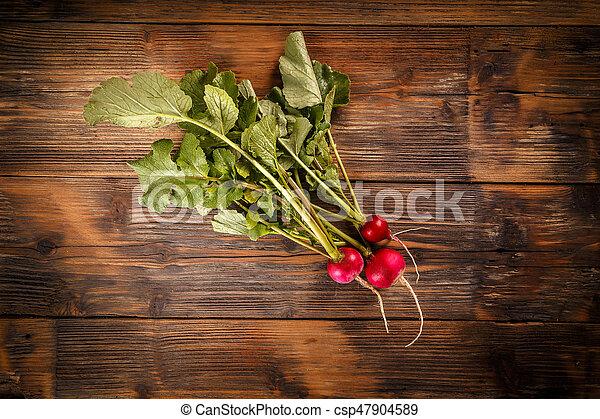 Bunch of fresh radishe - csp47904589