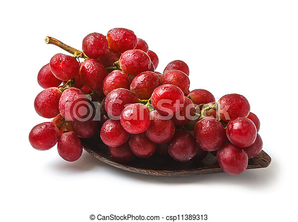 bunch of grapes on a plate - csp11389313