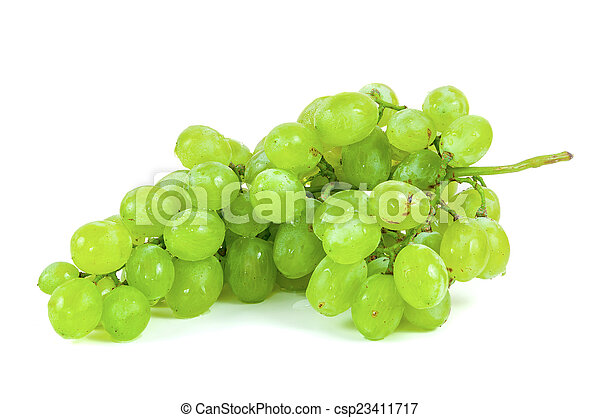 Bunch of grapes on white background - csp23411717