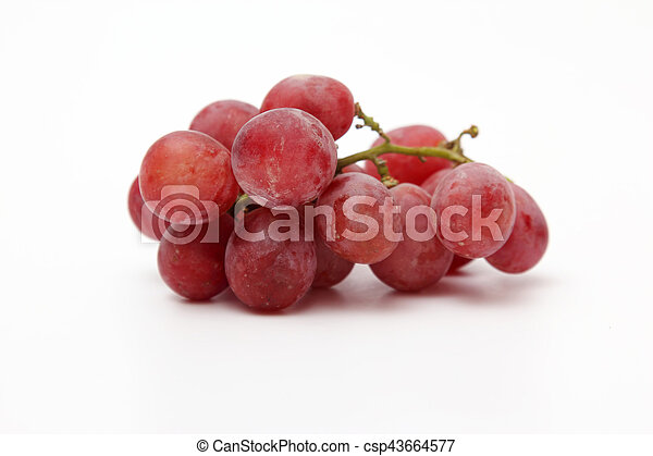 bunch of grapes on white background - csp43664577