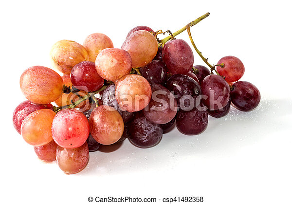 Bunch of grapes on white background - csp41492358