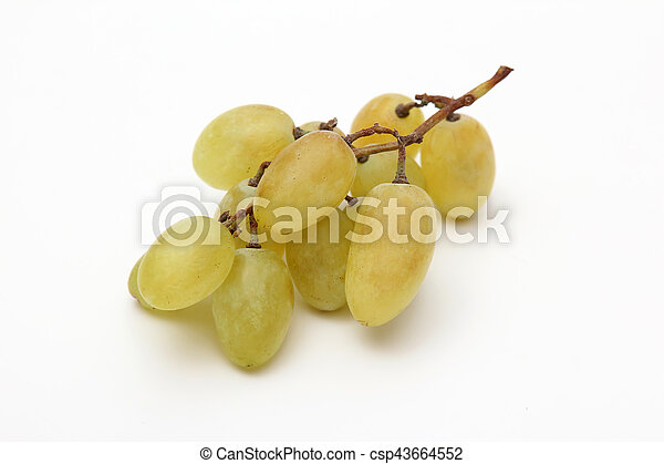 bunch of grapes on white background - csp43664552