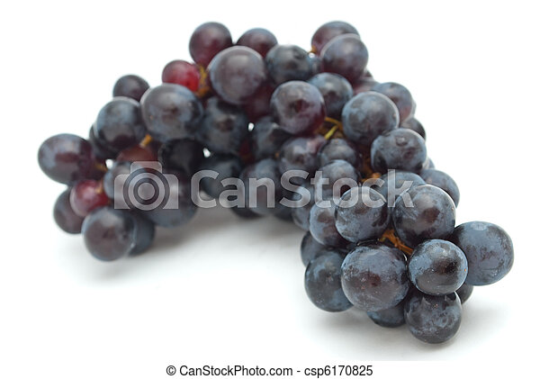 Bunch of grapes on white background - csp6170825
