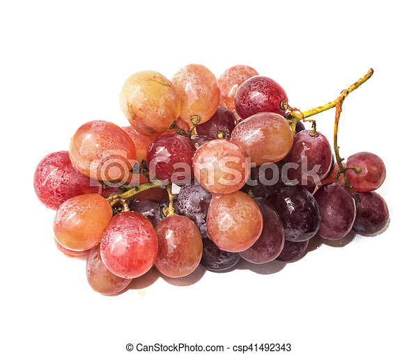 Bunch of grapes on white background - csp41492343