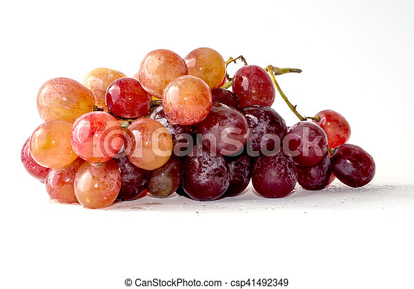 Bunch of grapes on white background - csp41492349