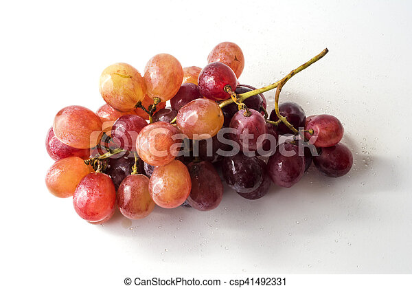 Bunch of grapes on white background - csp41492331