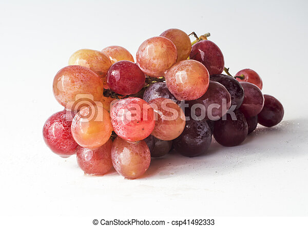 Bunch of grapes on white background - csp41492333