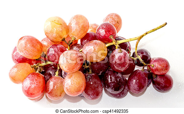 Bunch of grapes on white background - csp41492335