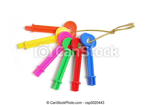Bunch of Plastic Keys - csp3020443