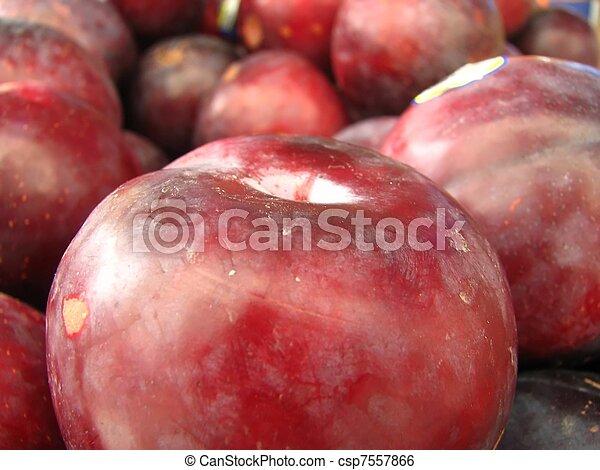 bunch of plums - csp7557866