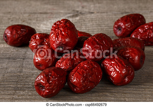 bunch of red Chinese dates - csp66492679