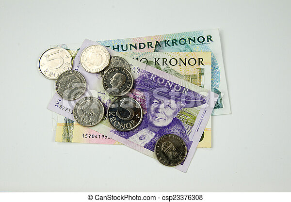 Bunch of swedish money - csp23376308