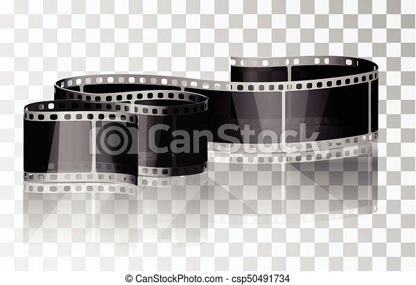 Bundle film on a transparent background. - csp50491734