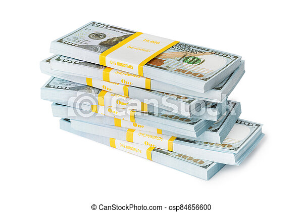 Bundles of money - csp84656600