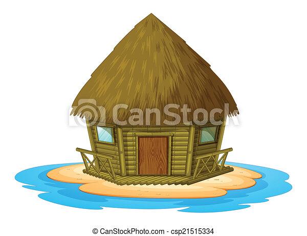 Bungalow on island - csp21515334