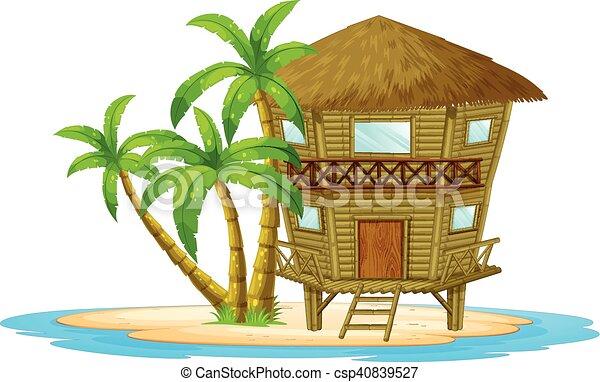 Bungalow on the island - csp40839527