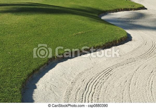 bunker, abstratos, golfe - csp0880390
