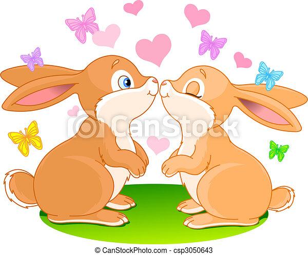 Bunnies in love - csp3050643