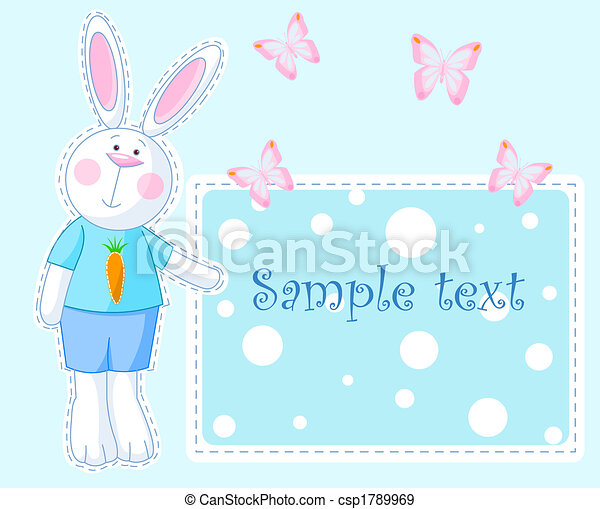 Bunny Card - csp1789969