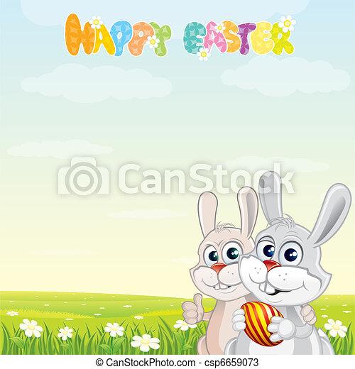 Bunny Friends - csp6659073