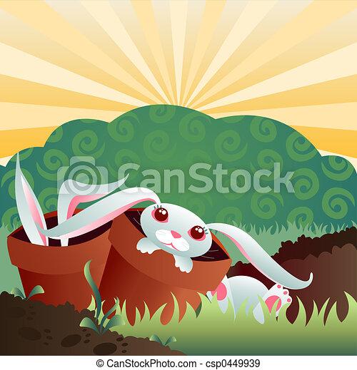 Bunny Garden - csp0449939
