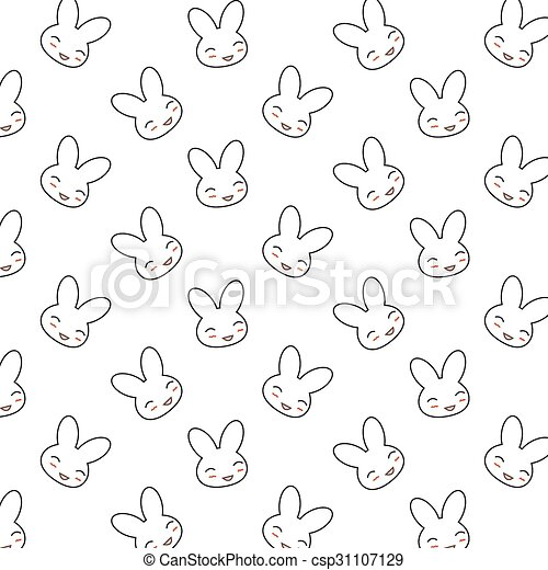 Bunny Pattern Awesome Bunny Pattern