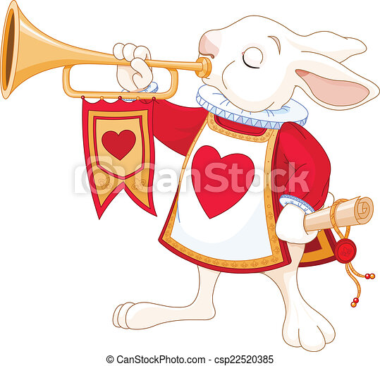 Bunny royal trumpeter - csp22520385