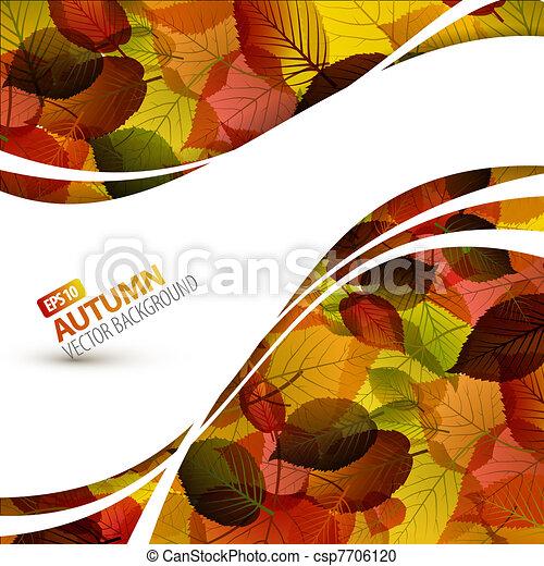 Farbiger Vektor im Herbst - csp7706120