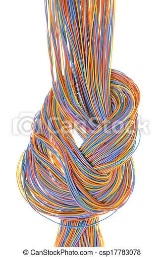 Bunte Kabel bunte kabel vernetzung bunte freigestellt hintergrund bild