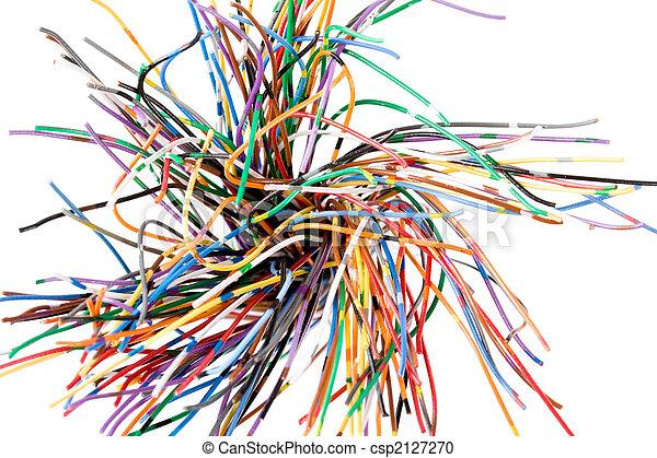 Bunte Kabel bunte kabel kabel bunte kommunikation begriff linie