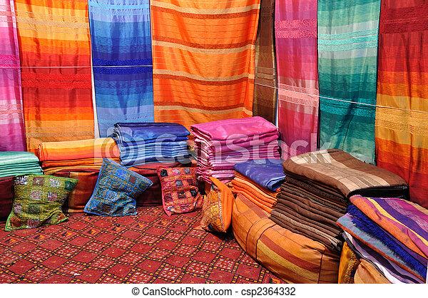Bunte Kissen Fes Verkauf Marokko Stoffe