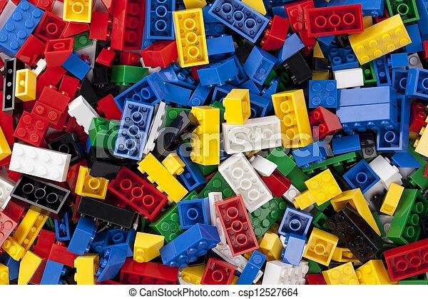 Farbige Legos - csp12527664